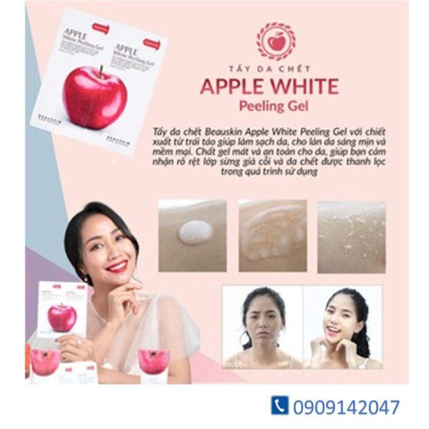 Tẩy Tế Bào Chết Mặt Dạng Gel Dịu Nhẹ BEAUSKIN Apple White Peeling Gel 150ml