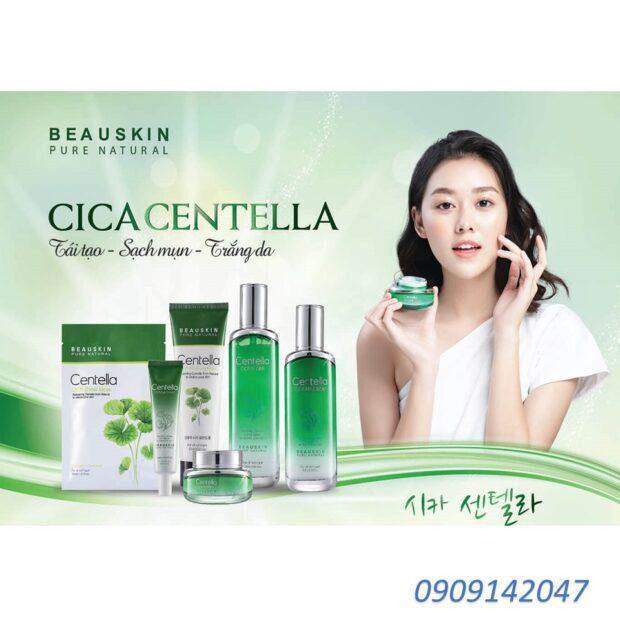 Kem tẩy da chết trắng da từ tinh chất rau má Cica Beauskin 150ml/ Hộp