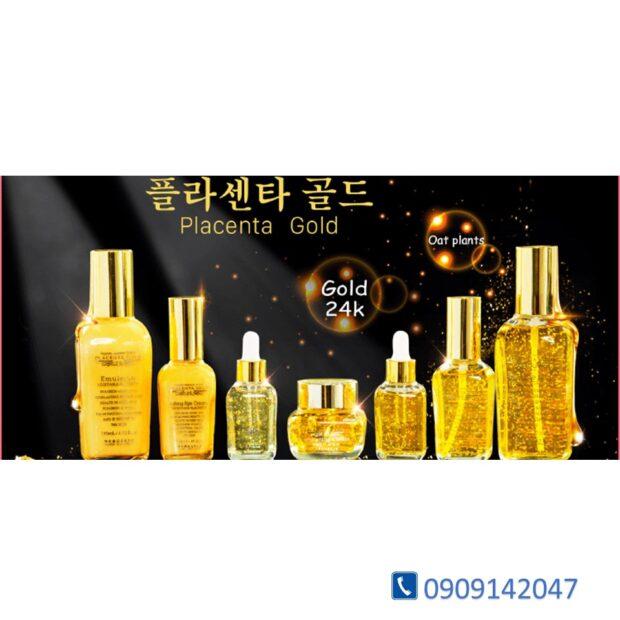 Tinh chất Serum chống nhăn tinh thể vàng 24k Gold Placenta Beauskin  Hàn Quốc 35ml CHÍNH HÃNG