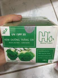kem dưỡng trắng da H+